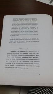 RESOLUTIVO DEL JUZAGADO PRIMERO DE DISTRITO