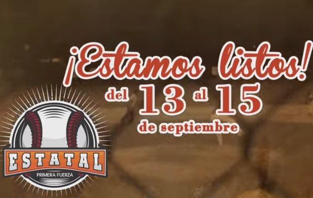 Todo listo para el arranque del Estatal de Beisbol, del 13 al 15 de septiembre