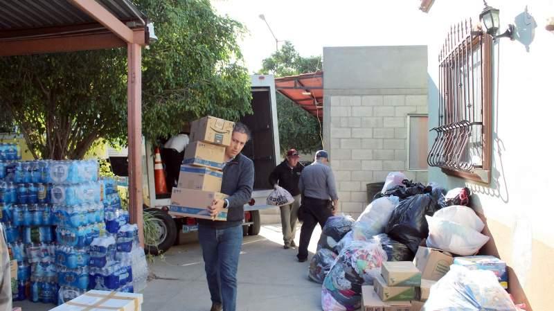 Entregó UABC 7 toneladas en apoyos a damnificados por incendios en Zona Costa