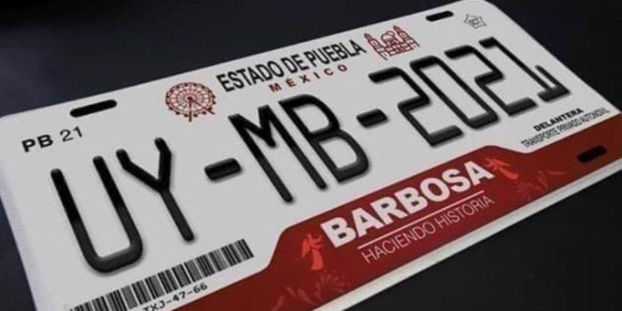Nuevas placas de Puebla llevan apellido del gobernador