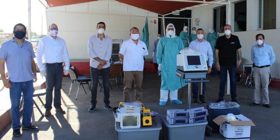 Hace Coparmex donativo de equipo para atender Covid-19 al Hospital General de SLRC