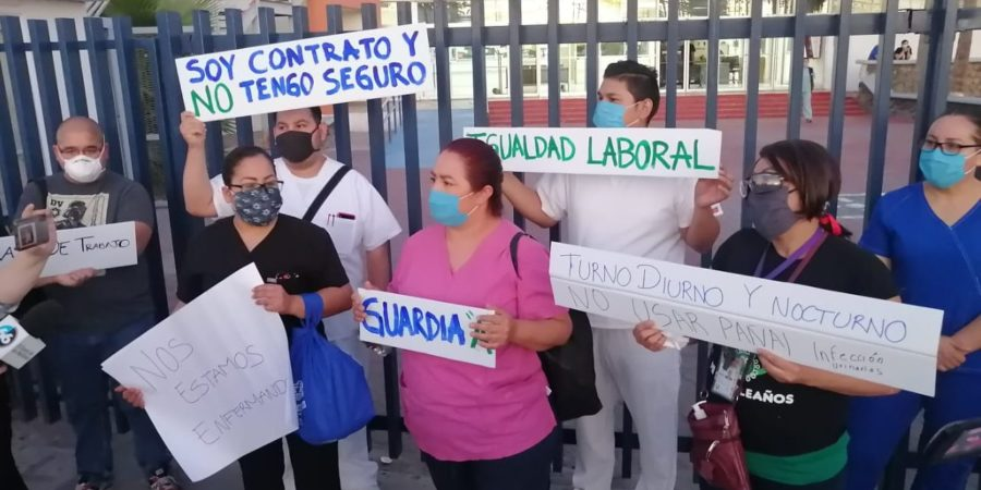 Denuncia enfermera que en Hospital de Mexicali se da prioridad a pacientes jóvenes con COVID