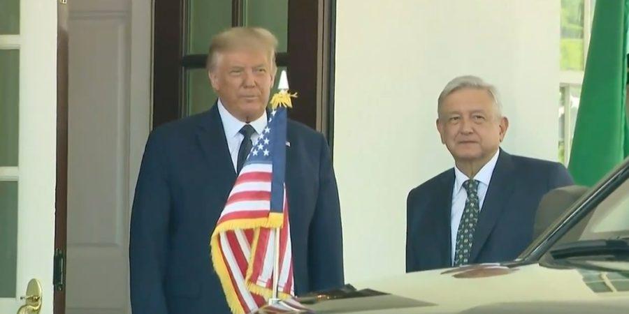 Frente a frente: AMLO y Trump se encuentran en la Casa Blanca e inician su primera reunión